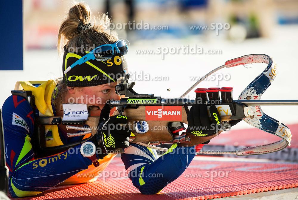Marie Dorin Habert (FRA)  during Women 12.5 km Mass Start at day 4 of IBU Biathlon World Cup 2015/16 Pokljuka, on December 20, 2015 in Rudno polje, Pokljuka, Slovenia. Photo by Vid Ponikvar / Sportida