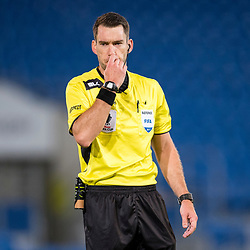 BRISBANE, AUSTRALIA - SEPTEMBER 20: Referee Jarred Gillett during in action the Westfield FFA Cup Quarter Final match between Gold Coast City and South Melbourne on September 20, 2017 in Brisbane, Australia. (Photo by Gold Coast City FC / Patrick Kearney)