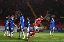 Charlton Athletic's Joe Aribo celebrates scoring their first goal of the game
