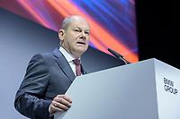 """28 NOV 2019, BERLIN/GERMANY:<br /> Olaf Scholz, SPD, Bundesfinanzminister, haelt eine REde, BMW Jahreskonferenz """"Im Auftrag der Zukunft. Politik und Wirtschaft im Dialog."""", ewerk Berlin-Mitte<br /> IMAGE: 20191128-01-082"""