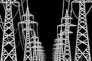 Hydro-electric towers<br /> Winnipeg<br /> Manitoba<br /> Canada