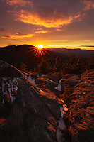 Dramatic sunset light as seen from the summit of Worcester Mtn, Putnam State Forest, Worcester, Vermont