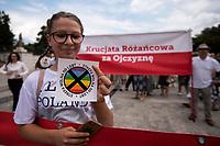 Bialystok, 21.07.2019. Tylko kilkadziesiat osob przeszlo w Marszu w obronie rodziny zorganizowanym przez bialostocki Klub Gazety Polskiej i Krucjate Rozancowa. Byla to riposta na sobotni Marsz Rownosci, ktory przeszedl ulicami miasta fot Michal Kosc / AGENCJA WSCHOD