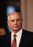 Mikhail S. Gorbachev photographed at  the Washington summit in May 1990..Photograph by Dennis Brack bb24