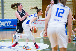 Rebeka Abramovic of ZKK Triglav Kranj during basketball match between ZKK Triglav Kranj and ZKD Maribor in Round #1 of 1. Slovenian Woman basketball league, on February 20, 2018 in ŠD Planina, Kranj, Slovenia. Photo by Ziga Zupan / Sportida