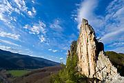 Chris Goplerud on Madmen Only 5.10a, Seneca Rocks, WV