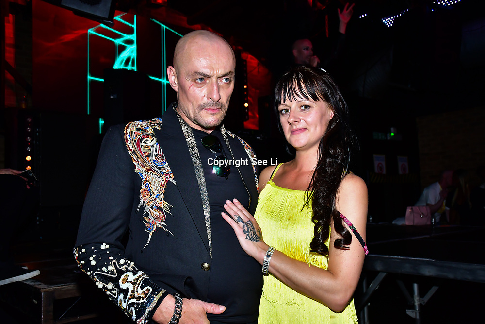 """Designer Aleah Leigh and Sean Cronin is an actor attends The Third Annual Integrity Awards by Dragon Lady Productions and The Peace Project 21st """"The Alternative Fashion Integrity Awards 2019 & Film Networking Soirée"""" on 21 September 2019, Fire Club Vauxhall, London, UK."""