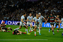 December 9, 2018 - Nanterre, Hauts de Seine, France - Racing 92 Wing SIMON ZEBO in action during the rugby Champions Cup Day 3 between Racing 92 and Leicester at U Arena Stadium in Nanterre - France..Racing 92 Won 36-26. (Credit Image: © Pierre Stevenin/ZUMA Wire)
