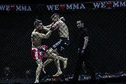 Kampfsport: MMA, We love MMA, Oberhausen, 31.01.2015<br /> Attila Korkmaz (Team MMA Spirit Frankfurt, r.) - Giuseppe Correra (Fight Lounge Dortmund)<br /> © Torsten Helmke
