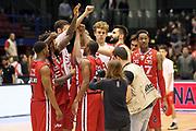 DESCRIZIONE: Milano Lega A 2014-15 <br /> EA7 Emporio Armani Granarolo Bologna<br /> GIOCATORE: EA7 Emporio Armani<br /> CATEGORIA: postgame - esultanza<br /> SQUADRA: EA7 Emporio Armani<br /> EVENTO: Play-off quarti di finale gara 2 2014-2015<br /> GARA: EA7 Emporio Armani Granarolo Bologna<br /> DATA: 20/05/2015<br /> SPORT: Pallacanestro<br /> AUTORE: Agenzia Ciamillo-Castoria/A. Ossola<br /> Galleria: Lega Basket A 2014-2015<br /> Fotonotizia: Milano Lega A 2014-15 <br /> EA7 Emporio Armani Granarolo Bologna