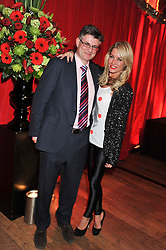 DENISE VAN OUTEN and PATRICK TURNBULL who paid £3000 to appear in Hello! with Denise Van Outen at One Night Changes Everything - a fundraising evening for the 2013 Comic Relief Campaign held at The Royal Opera House, London on 28th February 2013.