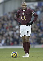 Photo: Aidan Ellis.<br /> Blackburn Rovers v Arsenal. The Barclays Premiership. 25/02/2006.<br /> Arsenal's Thierry Henry does not look happy
