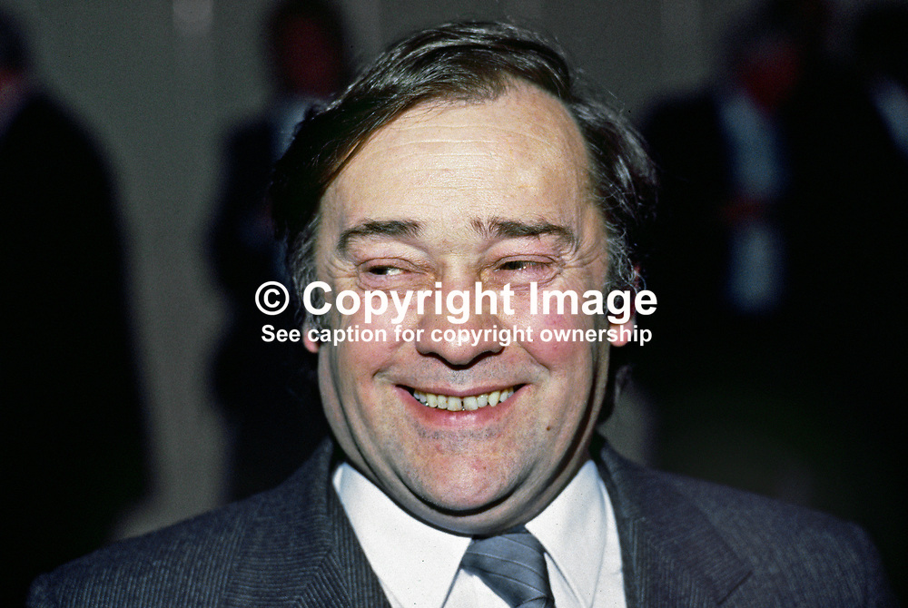 Robert Cooper, head, N Ireland Fair Employment Agency, former politician, Alliance Party of N Ireland. 1985010001RC.<br /> <br /> Copyright Image from Victor Patterson, Belfast, UK<br /> <br /> t: +44 28 9066 1296 (from Rep of Ireland 048 9066 1296)<br /> m: +44 7802 353836<br /> e: victorpattersonbelfast@gmail.com<br /> <br /> www.images4media.com<br /> <br /> Please see my full Terms and Conditions of Use at https://www.images4media.com/p/terms-conditions - it is IMPORTANT that you familiarise yourself with them.<br /> <br /> Images used online incur an additional cost. This cost should be agreed in writing in advance. Online images must be visibly watermarked i.e. © Victor Patterson or that of the named photographer within the body of the image. The original metadata must not be deleted from images used online.<br /> <br /> This image is only available for the use of the download recipient i.e. television station, newspaper, magazine, book publisher, etc, and must not be passed on to a third party. It is also downloaded on condition that each and every usage is notified within 7 days to victorpattersonbelfast@gmail.com.<br /> <br /> The right of Victor Patterson (or the named photographer) to be identified as the author is asserted in accordance with The Copyright Designs And Patents Act (1988). All moral rights are asserted.