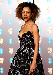 Sophie Okonedo attending the 72nd British Academy Film Awards held at the Royal Albert Hall, Kensington Gore, Kensington, London.