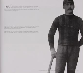 """""""Big"""" Jim Grace from Tullaroan, County Kilkenny travelled to the United States as a player on the GAA tour of 1888. He played several times on early Kilkenny teams."""