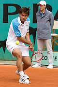 Paris, France. May 27th 2009. .Roland Garros - Tennis French Open. 1st Round..French player Fabrice Santoro against Christophe Rochus. .It's Fabrice Santoro's 20th and last Roland Garros.