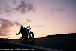 """FTW, Sturgis, South Dakota, 1981<br /> <br /> Limited Edition Print from an edition of 50. Photo ©1981 Michael Lichter.<br /> <br /> The Story:Giving someone the finger like this in 1981 was outrageous, but then I wasn't the focus of any anger. This was just someone's saying """"Fuck The World; I'm doing my own thing."""