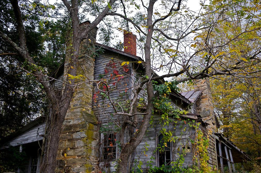 An abandoned home near Boone, North Carolina