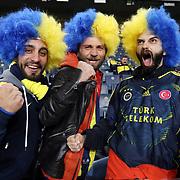 Fenerbahce's supporters cheer during their Turkish super league soccer derby Fenerbahce between Trabzonspor at the Sukru Saracaoglu stadium in Istanbul Turkey on Monday 30 November 2015. Photo by Kurtulus YILMAZ/TURKPIX