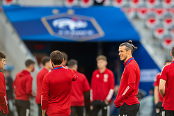 NICE, FRANCE - Wednesday, June 2, 2021: Wales' captain Gareth Bale on the pitch before an international friendly match between France and Wales at the Stade Allianz Riviera ahead of the UEFA Euro 2020 tournament. (Pic by Simone Arveda/Propaganda)