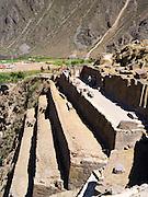 Incan walls and terraces at Ollantaytambo, Peru; note the very fine masonry - no mortar.