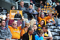 Hull City fans show their support for Hull City manager Steve Bruce before kick off<br /> <br /> Photographer Chris Vaughan/CameraSport<br /> <br /> Football - Barclays Premiership - Hull City v Manchester United - Sunday 24th May 2015 - Kingston Communications Stadium - Hull<br /> <br /> © CameraSport - 43 Linden Ave. Countesthorpe. Leicester. England. LE8 5PG - Tel: +44 (0) 116 277 4147 - admin@camerasport.com - www.camerasport.com