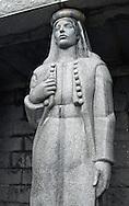 Caryatid at the Njegos mausoleum, Loven national park, Montenegro