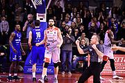 Cervi Riccardo Wright Julian<br /> Grissin Bon Reggio Emilia - Germani Basket Brescia<br /> Lega Basket  Serie A  2017/2018<br /> Bologna, 04/04/2018<br /> Foto A.Giberti / Ciamillo - Castoria