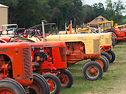 Older J.I. Case tractors are on display at the Rock River Thresheree, Edgerton, Wisconsin; 2 Sept 2013