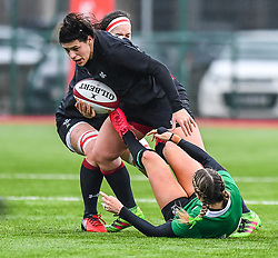 Wales women's Rebecca De Filippo in action during todays match<br /> <br /> Photographer Craig Thomas/Replay Images<br /> <br /> International Friendly - Wales women v Ireland women - Sunday 21th January 2018 - CCB Centre for Sporting Excellence - Ystrad Mynach<br /> <br /> World Copyright © Replay Images . All rights reserved. info@replayimages.co.uk - http://replayimages.co.uk