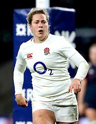 Amber Reed of England - Mandatory by-line: Robbie Stephenson/JMP - 04/02/2017 - RUGBY - Twickenham - London, England - England v France - Women's Six Nations