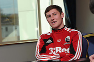 Ben Davies of Swansea city.Swansea city training and media day at the  Liberty stadium in Swansea, South Wales on Thursday 21st Feb 2013. The team are training ahead of their forthcoming Capital one cup final on Sunday. pic by Andrew Orchard, Andrew Orchard sports photography,