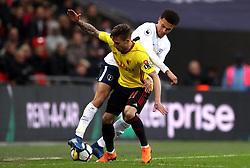 Watford's Kiko Femenia (front) and Tottenham Hotspur's Dele Alli battle for the ball