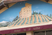 bistrot de la nerthe on the town square chateauneuf du pape rhone france