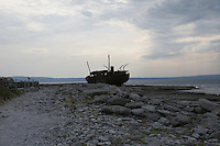 Shipwreck on Inis Oirr the Aran Islands Galway Ireland