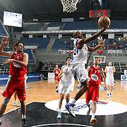 Anadolu Efes's Oliver Lafayette (C) during their Turkish Basketball League Play Off match Anadolu Efes between Pinar Karsiyakaat Sinan Erdem Arena in Istanbul, Turkey, Sunday, May 06, 2012. Photo by TURKPIX