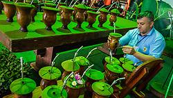 Escola do Chimarrão durante a 39º Expointer - Exposição Internacional de Animais, Máquinas, Implementos e Produtos Agropecuários. A maior feira a céu aberto da América Latina,  promovida pela Secretaria de Agricultura e Pecuária do Governo do Rio Grande do Sul, ocorre no Parque de Exposições Assis Brasil, entre 27 de agosto e 04 de setembro de 2016 e reúne as últimas novidades da tecnologia agropecuária e agroindustrial. FOTO: Itamar Aguiar / Agência Preview