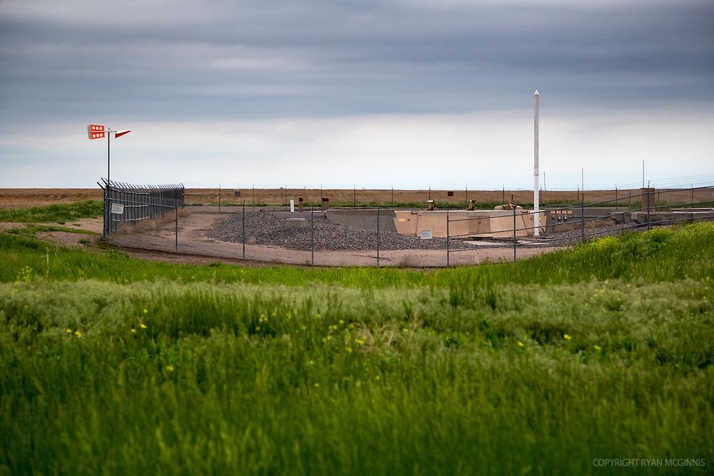 A Minuteman nuclear missile silo near Gurley, Nebraska, June 1, 2014.