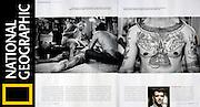 National Geographic / Thai Tattoo Tearsheet - Jean-Michel Clajot - Photojournalist