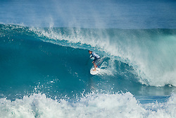 December 11, 2017 - Hawaii, U.S. - Josh Kerr (AUS) placed  1st in Heat 2 of  Round One at the Billabong Pipe Masters 2017 on the North Shore of Oahu. (Credit Image: © Kelly Cestari/WSL via ZUMA Wire)