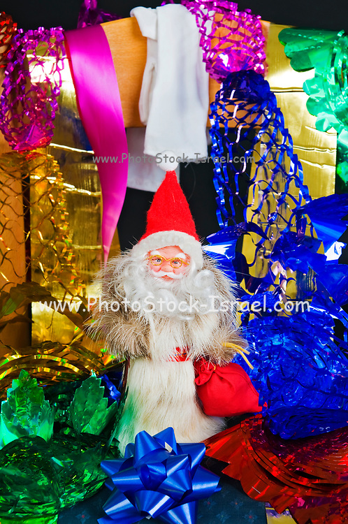Christmas Decorations with a Santa doll