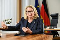 30 JUN 2021, BERLIN/GERMANY:<br /> Svenja Schulze, SPD, Bundesumweltministerin, waehrend einem Interview, in ihrem Büro, Bundesumweltministerium<br /> IMAGE: 20210630-01-005<br /> KEYWORDS: Büro