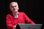 John McDonnell MP, shadow chancellor of thr labour party speaking a fringe event at the TUC congress 2015. Brighton, UK.