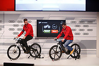 Sergio Ramos and Iker Casillas participates and receives new Audi during the presentation of Real Madrid's new cars made by Audi in Madrid. December 01, 2014. (ALTERPHOTOS/Caro Marin)