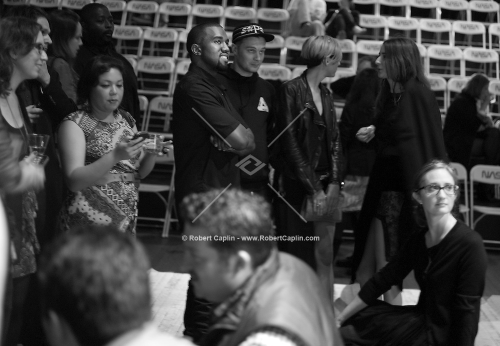 Kanye West at the opening of Tom Sachs: SPACE PROGRAM: MARS an art exhibit at The Park Avenue Armory in New York...Photo by Robert Caplin