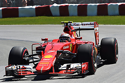 06.06.2015, Circuit Gilles Villeneuve, Montreal, CAN, FIA, Formel 1, Grand Prix von Kanada, Qualifying, im Bild Kimi Raikkonen (FIN) Ferrari SF15-T // during Qualifyings of the Canadian Formula One Grand Prix at the Circuit Gilles Villeneuve in Montreal, Canada on 2015/06/06. EXPA Pictures © 2015, PhotoCredit: EXPA/ Sutton Images/ Jose Rubio<br /> <br /> *****ATTENTION - for AUT, SLO, CRO, SRB, BIH, MAZ only*****