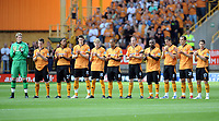 Wolverhampton Wanderers/West Ham United Premiership 015.08.09 <br /> Photo: Tim Parker Fotosports International<br /> Wolves players clap during the 1 minute applause for Sir Bobby Robson ex England manager who died of cancer 2 weeks ago