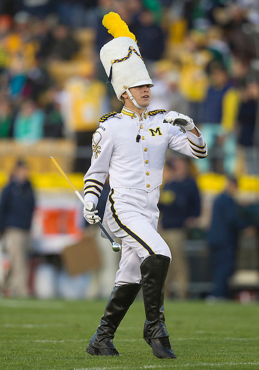 September 22, 2012:  Michigan band performs during NCAA Football game action between the Notre Dame Fighting Irish and the Michigan Wolverines at Notre Dame Stadium in South Bend, Indiana.  Notre Dame defeated Michigan 13-6.