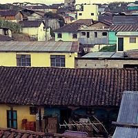Central America, Latin America, Guatemala, Chichicastenango. Rooftops of Chichicastenango.