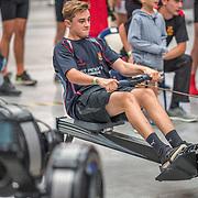 Race 20 500mtr U16 <br /> <br /> www.rowingcelebration.com Competing on Concept 2 ergometers at the 2018 NZ Indoor Rowing Championships. Avanti Drome, Cambridge,  Saturday 24 November 2018 © Copyright photo Steve McArthur / @RowingCelebration